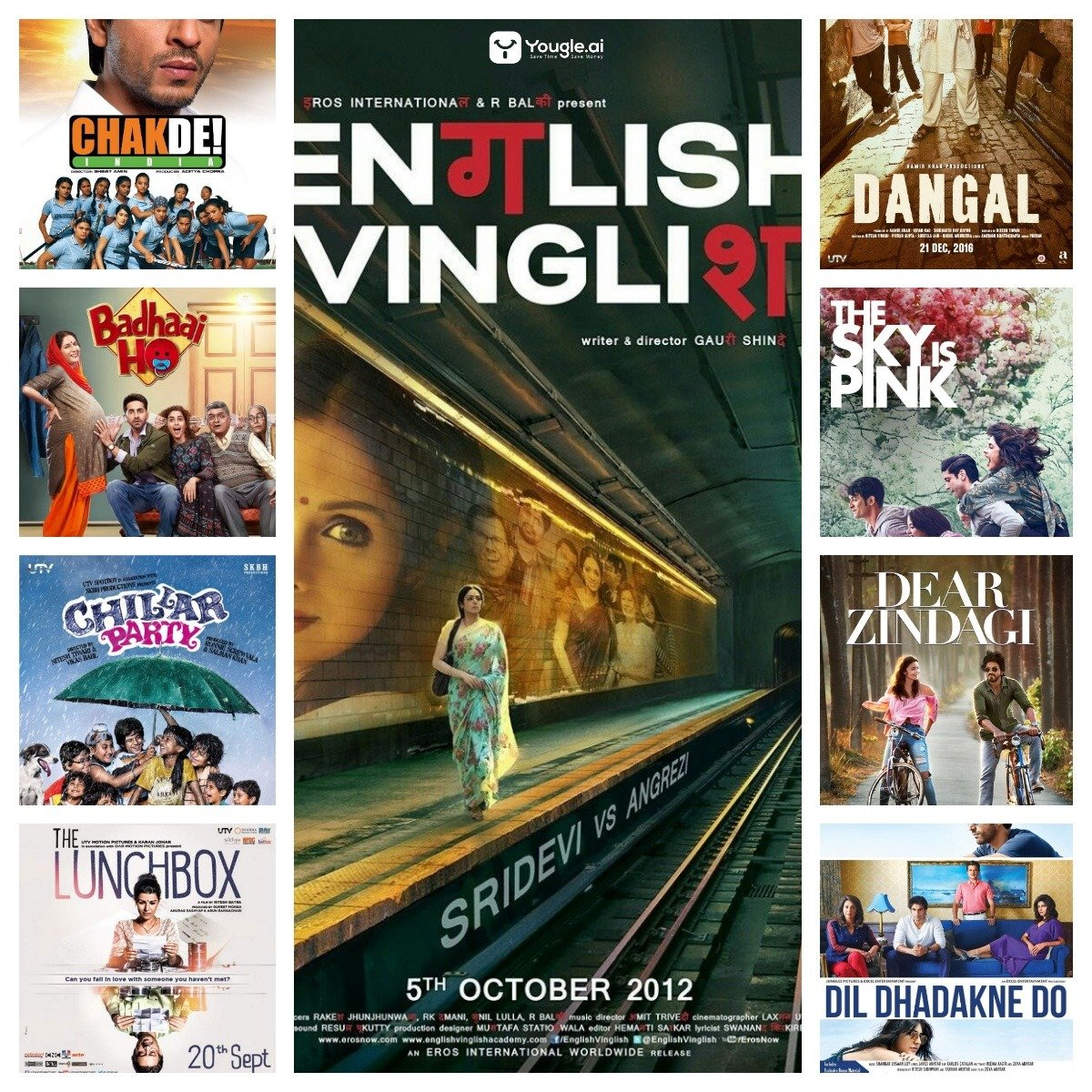 Best Hindi Family Movies Collage Poster